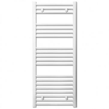 Termoarredo bagno bianco Lazzarini larghezza 40 cm, termoarredi radiatore verticale 1188x450 mm ideale anche come scaldasalviette e portasciugamani.
