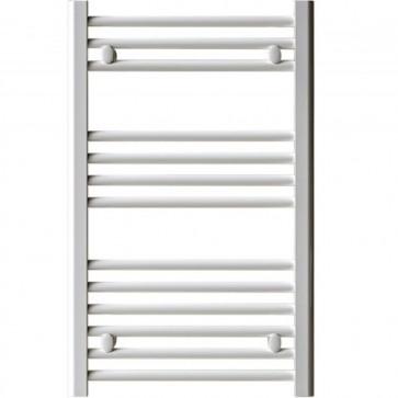 Termoarredo bagno bianco Lazzarini larghezza 50 cm, termoarredi radiatore verticale ideale anche come scaldasalviette e portasciugamani.