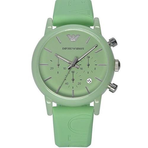 77c0e13f18ce22 Orologio cronografo da polso Emporio Armani, orologi con data e cinturino  in silicone.
