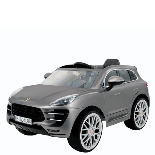 5759b138be Macchina elettrica 12V Porsche per bambini, con telecomando. Fuoristrada  elettrico SUV Macan colore silver per bimbo ...