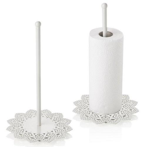 Portarotolo Cucina Ikea Shabby Chic In Ferro Portascottex Bianco Stile Country Provenzale