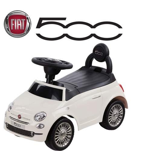 DRIWEI Auto per Bambini cavalcabile maccchina Spinta Modello Fiat 500 Bianca Primi Passi B70591