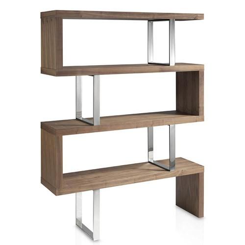 Libreria In Legno Noce.Libreria Design In Acciaio E Legno Angel Cerda Per Casa E Ufficio
