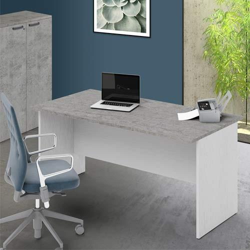 Scrivania Ufficio Cemento Larga 160 Cm Scrivanie In Legno Porta Pc Per Arredamento Camerette Dimensioni 74x160x80 Cm