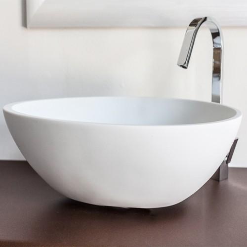 Lavabo bagno da appoggio cip in resina moderno lavandino for Lavandino design