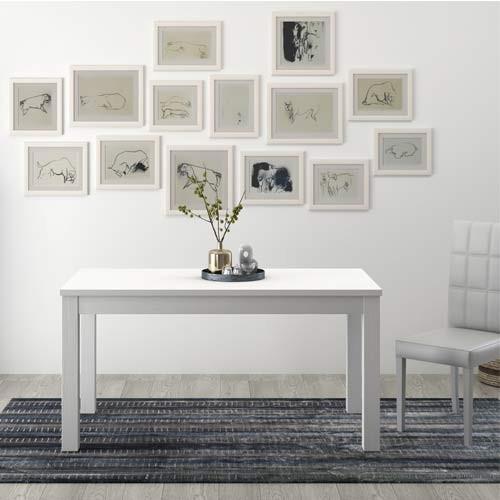 Tavolo Da Pranzo Bianco Allungabile Di 40 Cm Tavoli Da Cucina Allungabili Con Gambe In Faggio Dimensioni 160x90 Cm