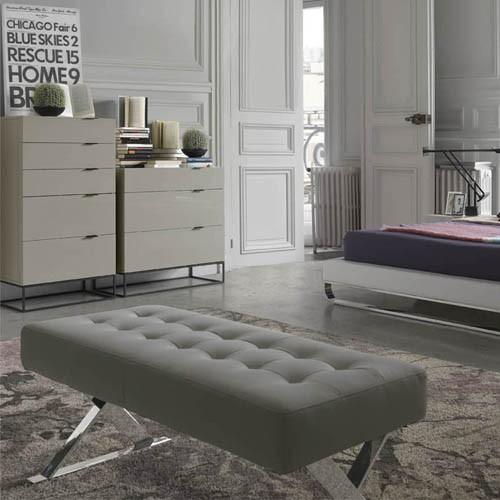 Panca imbottita in ecopelle per camera da letto - Panca camera da letto ...