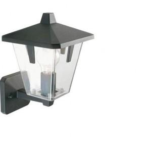 Applique lampada in alto E27 colore nero da giardino, lampade da esterno Sovil della linea Eureka.