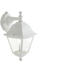 Applique lampada da parete E27 colore bianco da giardino, lampade per esterno Sovil della linea Nano.