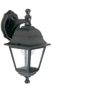 Applique lampada da parete E27 colore nero da giardino, lampade per esterno Sovil della linea Nano.