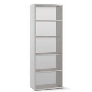 Libreria ufficio Sarmog con 2 ripiani regolabili. Mobile a giorno bianco ossido con 4 ripiani, misure 199x71x41 cm.