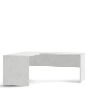 Scrivania angolare bianca larga 180 cm. Scrivanie ufficio Sarmog in legno porta pc per arredamento camerette
