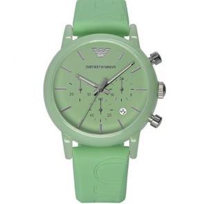 Orologio cronografo da polso Emporio Armani, orologi con data e cinturino in silicone.