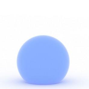 Lampada a palla da giardino, in resina bianca per esterno. Lampade da terra a sfera illuminate di luce blu, ideali anche per il terrazzo e bordo piscina.