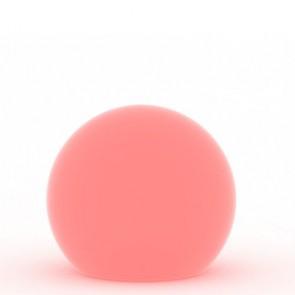 Lampada a palla da giardino, in resina bianca per esterno. Lampade da terra a sfera illuminate di luce rossa, ideali anche per il terrazzo e bordo piscina.