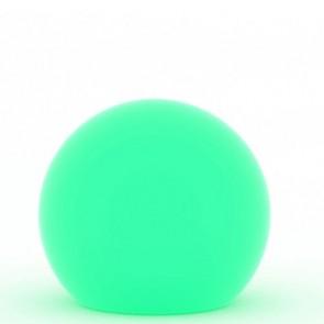 Lampada a palla da giardino, in resina bianca per esterno. Lampade da terra a sfera illuminate di luce verde, ideali anche per il terrazzo e bordo piscina.