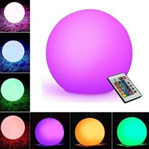 Lampada a palla da giardino con batteria ricaricabile per esterno. Lampade da terra a sfera illuminate di luce led multicolore RGB con telecomando, ideali anche per il terrazzo e bordo piscina.