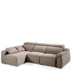 Divano in tessuto Angel Cerdà con chaise-longue. Divani reclinabili elettrici relax, ideale in soggiorno.