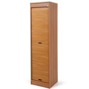 Armadio scarpiera con serrandina. Scarpiere armadietto in legno con 5 ripiani.