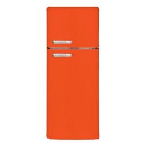 Frigorifero americano doppia porta. Frigoriferi vintage 230 litri con freezer congelatore classe energetica A+.