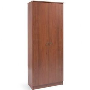 Armadio scarpiera con ante, dimensioni 71x38x182 cm. Scarpiere armadietto due ante in legno colore noce antico, ideale per tutti i modelli di scarpe e stivali.