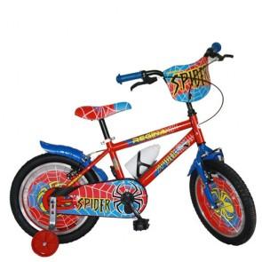 Bici bambino Regina Spider 16 pollici. Biciclette per bambini con rotelle e borraccia.