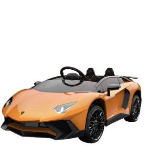 Macchina elettrica 12 volt Lamborghini Aventador per bambini con telecomando e due poggiatesta.