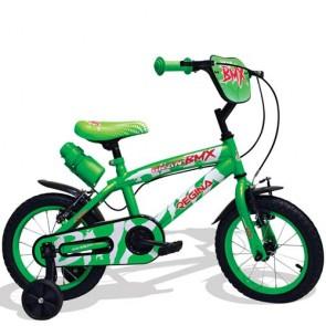 Bici bambino 12 pollici Regina BMX. Biciclette per bambini rossa, blu o verde con rotelle e borraccia.