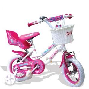 Bici bambina Regina fashion girl 12 pollici. Biciclette per bambine bianca o fucsia con rotelle e cestino.