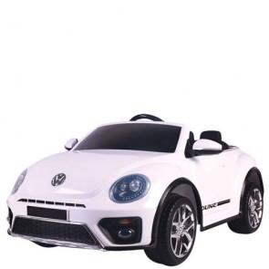 Auto elettriche con batteria 12 volt, maggiolino cabrio Volkswagen per bambini con telecomando. Maggiolone macchina elettrica bianca per bambino con radiocomando.