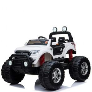 Macchina elettrica per bambini Ford Monster Truck 12 Volt a due posti con telecomando. Fuoristrada elettrico SUV 12V 4x4