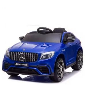 Auto elettrica Mercedes GLC 63S AMG coupè per bambini con telecomando. Macchina Suv elettriche 12V blu