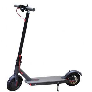 Monopattino elettrico grigio 250W per bambini e ragazzi con fari a led e batteria 36V, monopattini elettrici pieghevole per adulti con due ruote.