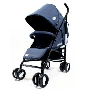 Passeggini leggeri 4 ruote per bambini richiudibile a ombrello, passeggino leggero da viaggio per bambino colore dark blu. Carrozzina neonato completa di borsa.