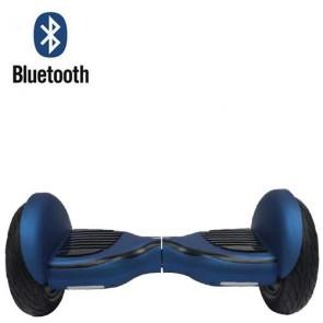 Monopattino elettrico bilanciato blu 10.5 pollici con bluetooth. Lo smart balance wheel è semplicissimo da guidare, overboard scooter con fari led