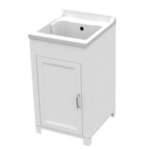Kit lavatoio in resina antiacido 45x50 cm con mobile. Lavatoio lavanderia con vasca e tavoletta lavaggio in polipropilene