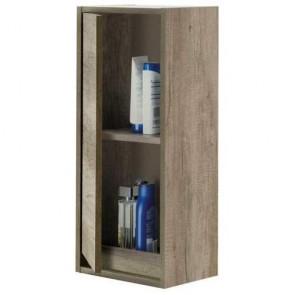 Pensile per mobile bagno Dakota. Colonna per mobili Fores in legno con anta e mensola in rovere
