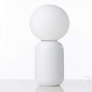 Lampada da tavolo in ceramica, lampade da scrivania Tomasucci con paralume in vetro bianco.