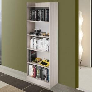 Libreria verticale componibile olmo alta 180 cm, librerie componibili e modulari in legno per ufficio e camerette bambini.