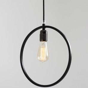 Lampadario piatto in metallo Customform, colore nero. Lampadari sospensione design moderni soggiorno.