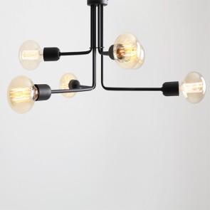 Lampadario moderno da cucina a soffitto Customform, colore nero.