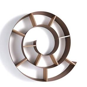 Mensola porta cd chiocciola Tomasucci. Mensole da parete in metallo verniciato effetto ruggine