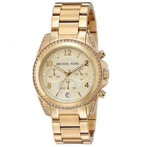 Orologio cronografo donna Michael Kors MK5166 con cristalli swarovski, orologi cronografi da polso con cinturino in acciaio.
