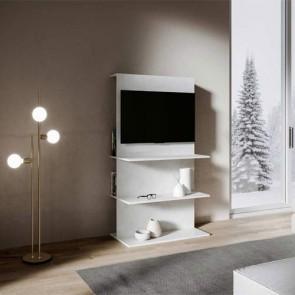 Mobile porta TV Loki B dal design moderno. Parete attrezzata moderna bianco