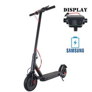 Monopattino elettrico 500 watt con fari a led e batteria 36v, scooter elettrico pieghevole con due ruote.