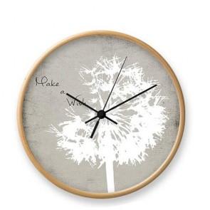 Orologio da parete Tomasucci rovere, orologi design da muro per la casa e in ufficio.