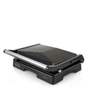Piastra elettrica Black Decker compact grill 1000 watt, bistecchiera elettriche ideale per cucinare panini