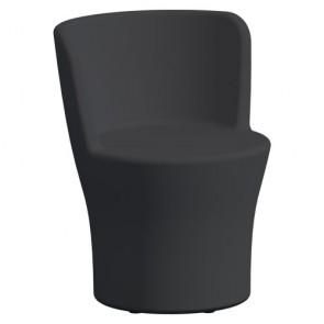 Poltrona da giardino in resina da interno. Poltroncina in polietilene di colore antracite per esterno, poltrone e sedia ideali per il l terrazzo di casa.