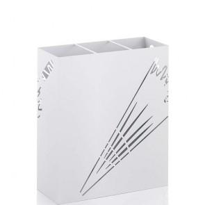 Portaombrelli acciaio verniciato bianco opaco. Portaombrello design Tomasucci, ideale per casa e ufficio.