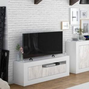 Mobile porta TV basso Baltik dal design moderno. Parete attrezzata moderna con 2 ante